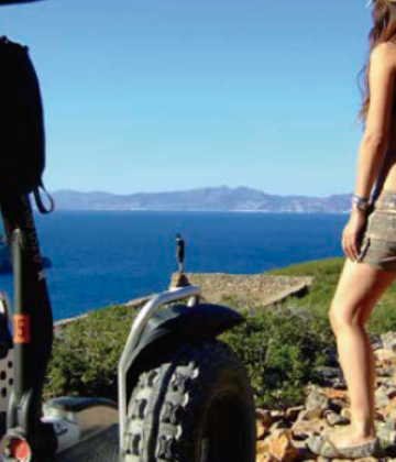 Guided route on Segway